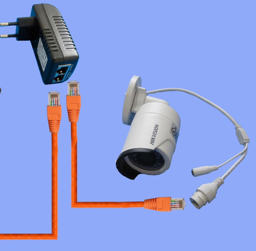 Установка и подключение камер видеонаблюдения